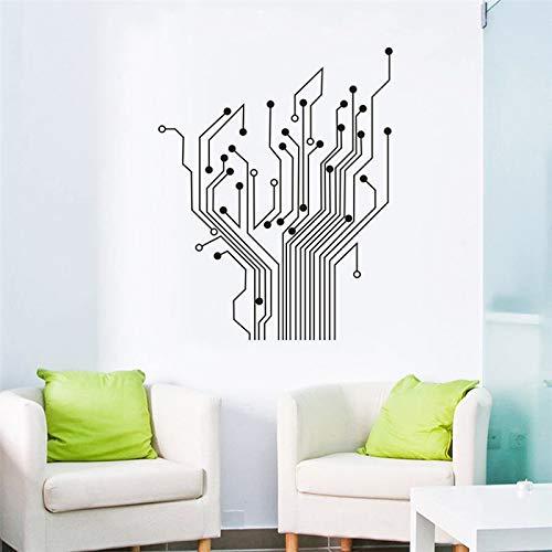 e Contempory Kunstwand Wandaufkleber Wohnkultur Aufkleber Für Wanddekoration Lassen Sie Den Ganzen Raum Voller Technologie Grau 57X71 cm ()