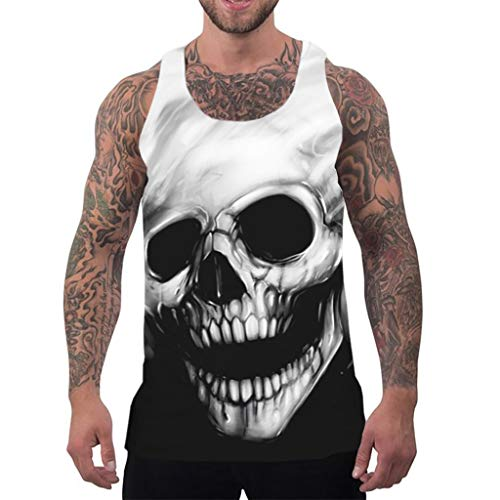 Herren Tanktop, Mode 3D Grafik Drucken Ärmellose T-Shirts Lustige Muster Sommer Weste Muskelshirt Tank Top für Herren - Top Tank Lustig Männer
