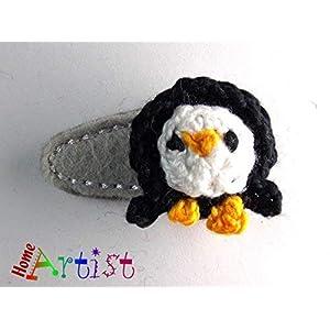 Pinguin Haarspange für Kleinkinder – freie Farbwahl