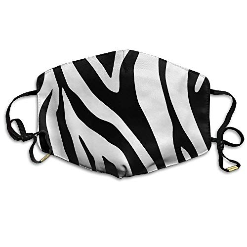 Zebra Napkin Paper Cheetah Animal Print Black Zebra Anti Dust Breathable Face Mouth Mask for Man Woman
