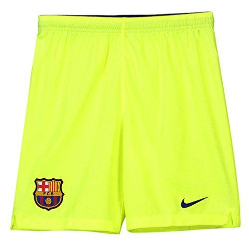 Nike 2018-2019 Barcelona Away Football Shorts Volt (Kids)