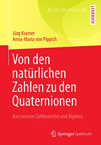 Von den natürlichen Zahlen zu den Quaternionen: Basiswissen Zahlbereiche und Algebra