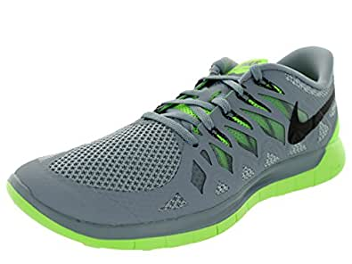 Nike Men's Free 5. 0 MGNT Gry/Blk/Elctrc GRN/Lt MGN Running Shoe 13 Men US