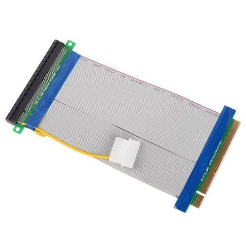 DN Powered Riser Cable 16X PCI-E PCI-Express Ribbon Flexible Extender Adapter