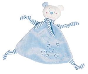 Cause - Mantita de arrullo con osito de peluche, color azul