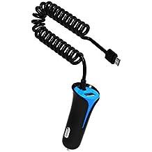 Dual-Port USB Caricabatteria rapido Caricatore Auto per Doppio Caricabatteria da Auto con Micro USB - per Motorola Droid Razr Maxx, Moto X, LG G2, HTC ONE, DNA, Samsung Galaxy S6/S5/S4/S3, Tab 3, Note 4/3/2, Google Nexus 7, e pi¨´