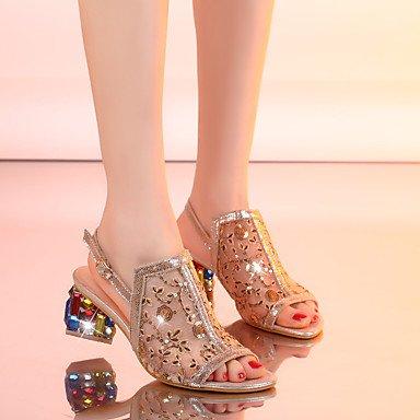 LvYuan sandali primavera scarpe club estivo fustigano partito&abito da sera strass Gold