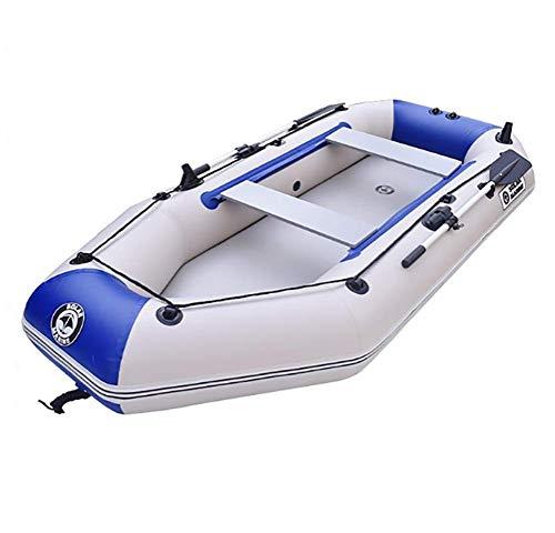 Kayak da pesca, kayak gonfiabile per 2 persone con remi in alluminio e pompa ad alto rendimento 175 x 102 cm