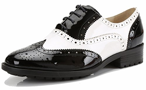 Perforierte Schnüren Wingtip MehrfarbenLeder Oxfords Vintage Comfy Office -