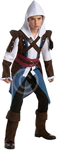 Kostüm Assassin's Die Creed Besten (Teen &ältere Jungen Assassins Creed 4 IIII Edward Spiel Gaming Convention Cosplay Halloween Karneval Kostüm Verkleidung Outfit 14 - 16)