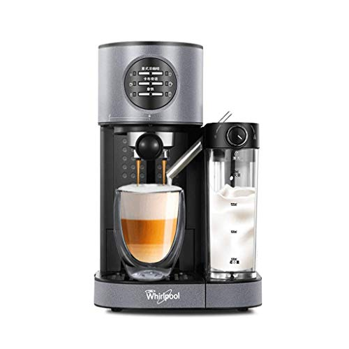 Kaffeevollautomat Kaffeemaschine + Schleifer + Entsafter vollautomatische Pumpe Kaffeemaschine italienische Schaummaschine Multifunktions-Haus Kaffeemaschine, Schwarz, 26,4 * 38,6 * 38.8cm