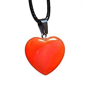 Reiki Energie geladen Karneol Kristall Herz Anhänger (Wunderschön als Geschenk verpackt)
