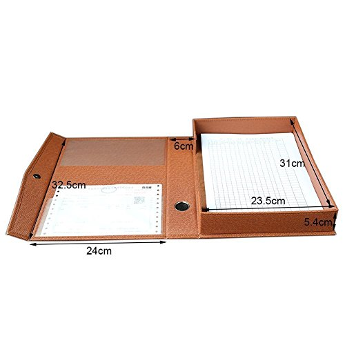 KINGFOM™ Dokumentenbox Dokumentenkassette A4 (Braun)