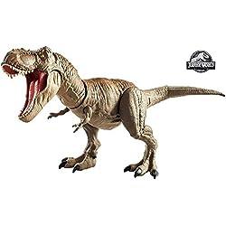 Jurassic World T-Rex Mega-Ataque, dinosaurio de juguete (Mattel GCT91)