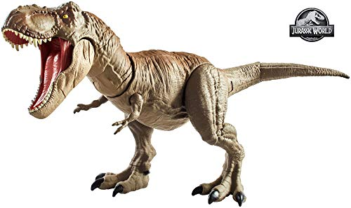Mattel Jurassic World  GCT91 Dino Rivals Superbiss-Kampfaction Tyrannosaurus Rex (Jurassic World Dinosaurier)