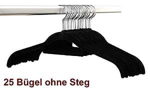Smart-hangers lot de 25 cintres sans steg-- cintres antidérapants noir/platzspar clever magic