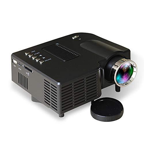 WBaRJ Projektor, Videoprojektor, Mini-Projektor-Handprojektor für den Heimgebrauch für Heimunterhaltung, Party und Spiele,Black