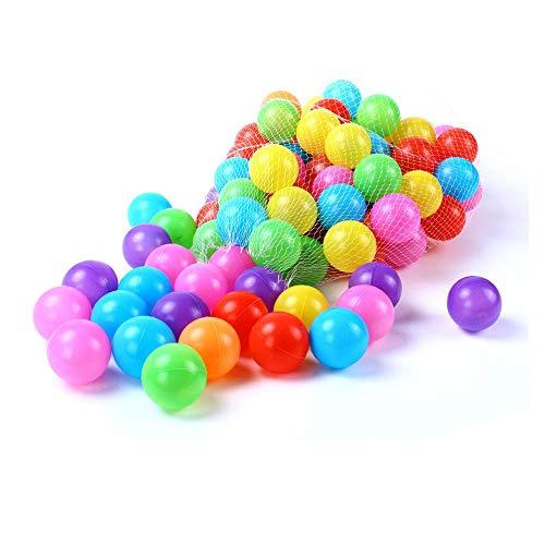 GZQ 100 pcs Diametro 5.5 cm Multicolor Bolas, Bolas de Plástico para...
