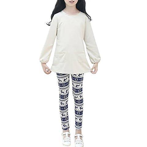 Pantalons Enfants, Malloom Noël Impression de jambières Pantalons à crayons