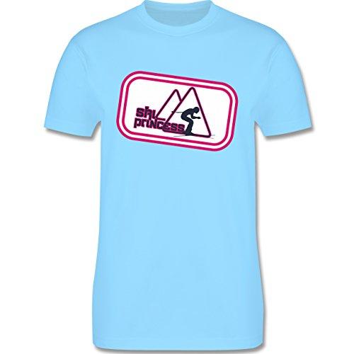 Après Ski - Ski Princess - Herren Premium T-Shirt Hellblau