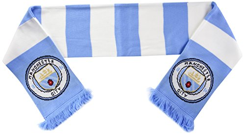 Manchester City FC oficial aficionados al fútbol rayas Escudo/logo bufanda