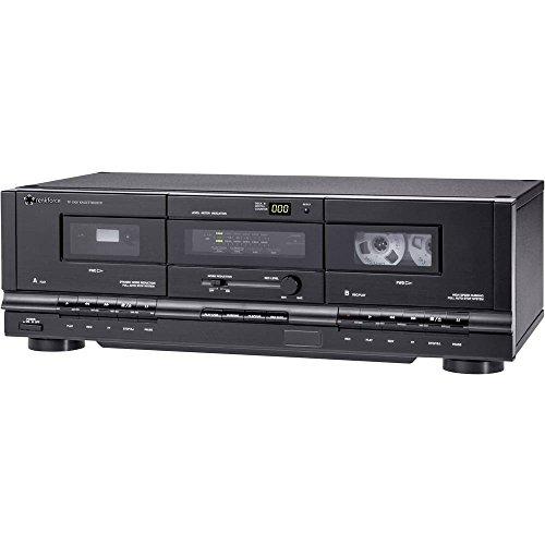 Renkforce TP-1000 Tape Deck Schwarz Doppel-Kassettendeck - Cassette Tape Deck