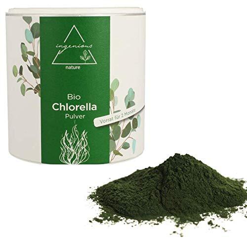 ingenious nature® Bio Chlorella PULVER - reines Chlorella Pulver - 300g (6,3€/100g) -
