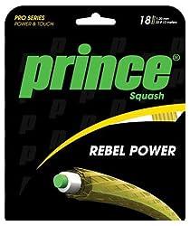 El Prince Rebel de cordaje para raqueta de squash aumenta su control y ofrece más potencia, capacidad de respuesta y sentir a complementar tu juego. Su núcleo de Multifilamento ha sido (y el conjunto mide 10m (33pies) de largo con un calibre 18(1....