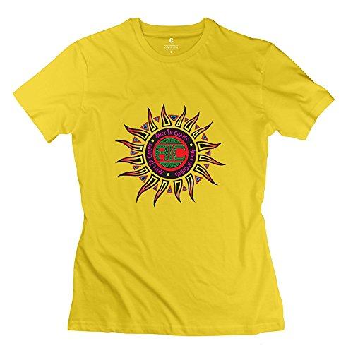 Shirt Frau Toy Story (Kst Frau Alice in Chains Logo T-Shirt Baumwolle Funny Gr. Large, Gelb)