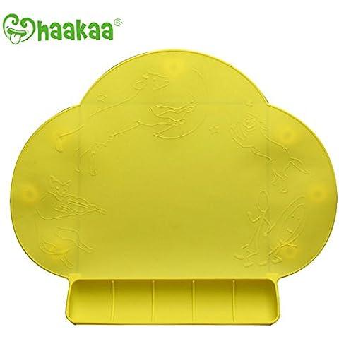 Haakaa - Regalo de Navidad para bebé y niño salvamanteles infantil silicona antideslizante portátil mantel individual mesa mat sin BPA, PVC y ftalatos
