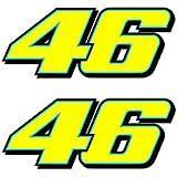 Valentino Rossi fluorescente amarillo 46 vinilo adhesivo (2013 10cm)