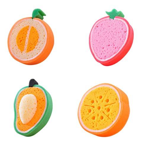 fish 1Pc / 4Pcs Frucht-Form-Schwamm Topfreiniger Reinigungstuch entfernen Flecken entfernen Sponge Küchenhelfer