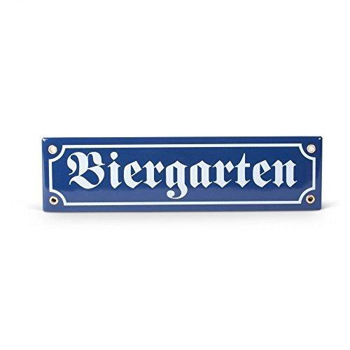 """Emaille-Schild """"Biergarten"""""""
