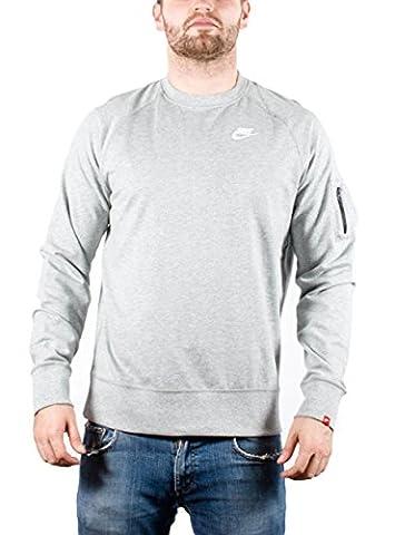 Nike-Sweat-Shirt à Col Ras du Cou Homme AW77 Full Zip Authentic Hoody (Red) L Grigio (Grau)