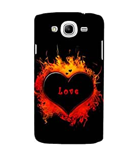 EPICCASE heart in fire Mobile Back Case Cover For Samsung Galaxy Mega 5.8 I 9150 (Designer Case)