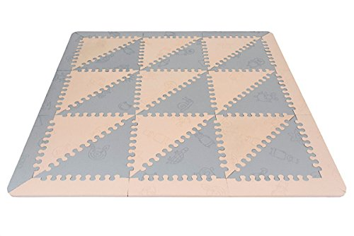 LuBabymats - Alfombra puzzle infantil para bebés de Foam (EVA), suelo