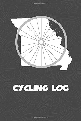 Cycling Log: Missouri Cycling Log for tracking and monitoring your workouts and progress towards your bicycling goals. A great fitness resource for ... Bicyclists will love this way to track goals! por KwG Creates