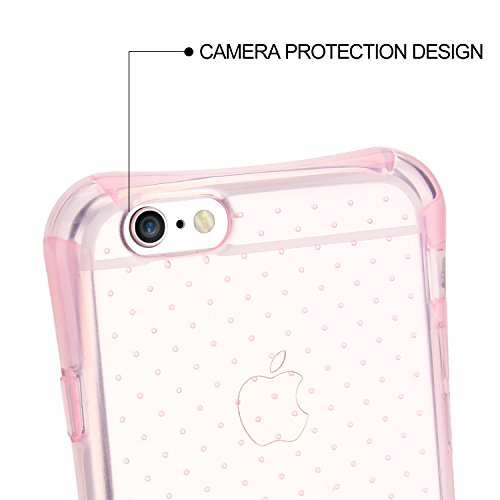 "Coque iPhone 6s / iPhone 6 (4.7"") , Engive Coque Housse Etui Cover Case Gel Silicone de Protection avec Spécial Coussin d'air Conception pour iPhone 6s / iPhone 6 (4.7"") Rose Rose"
