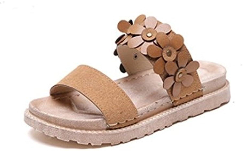 AJUNR Sandali Da Donna Donna Donna Alla Moda Wild 4cm di spessore pantofole scarpe da spiaggia e Coloreeee 35 | I Consumatori In Primo Luogo  4fc718