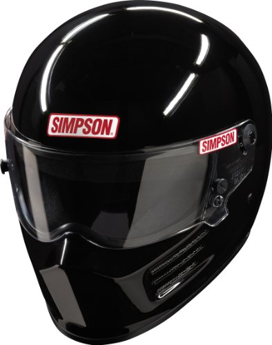 Simpson Bandit Casco Snell sa2010 Gloss Black S Small 56 cm @ Helmet World