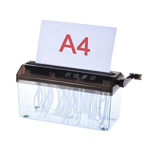 Takestop® distruggi documenti manuale manovella fogli a4 229mm distrugge tritacarta taglia carta casa negozio ufficio colore casuale