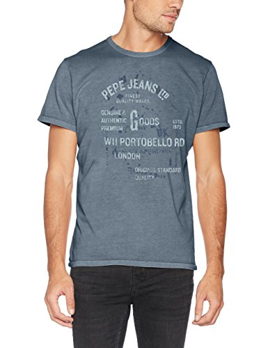Pepe Jeans Herren T-Shirt Bamboo Blau (Weller)