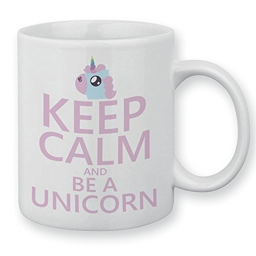 Mug Keep calm and be a unicorn. Licorne pastel, chibi et Kawaii by Fluffy chamalow - Fabriqué en France - Chamalow shop