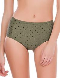 women'secret - Culotte haute de bikini galbante à petits pois