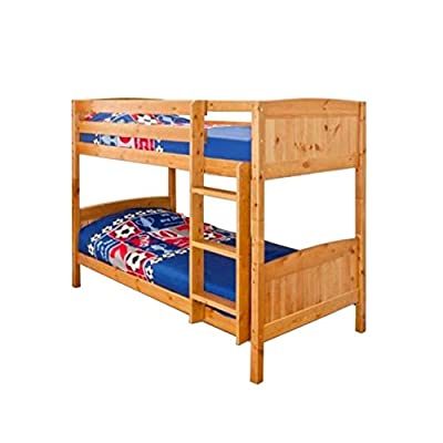 3ft (90cm) Christopher Pine Bunk Bed in a Natural Varnish - inexpensive UK light store.