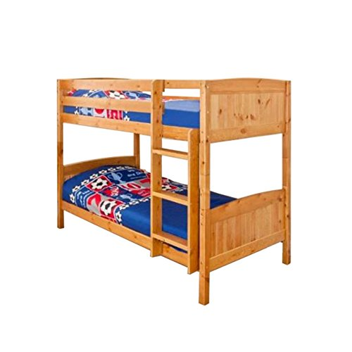 3ft (90cm) Christopher Pine Bunk Bed in a Caramel Finish