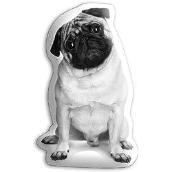 Funda de cojín en forma de perro carlino de hogar Appleby