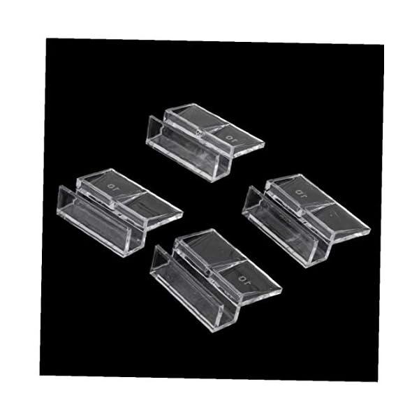 AYRSJCL Clips 4X Peces de Acuario Tanque de plástico Cubierta del Cristal de los titulares de Apoyo Fuerte 10mm 1