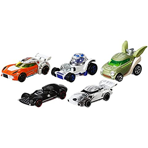Hot Wheels - Set de 5 coches Star Wars (CGX36)