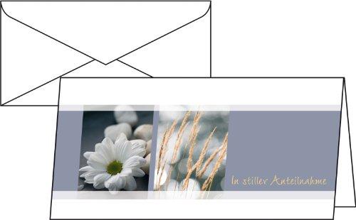 "Sigel DS208 Trauer-Karten ""Anteilnahme"", DIN lang, 10er Set mit Umschlägen"